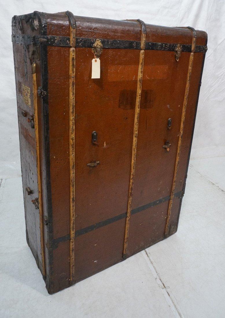Large Antique Steamer Trunk. MORITZ MADLER, Lipzi