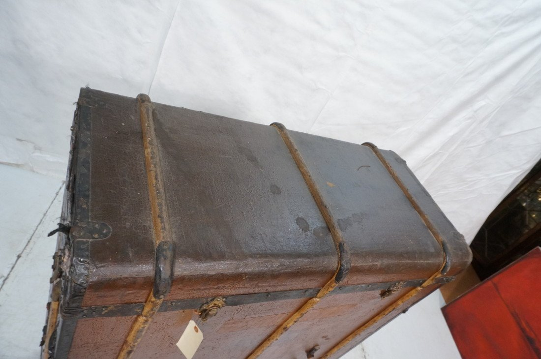 Large Antique Steamer Trunk. MORITZ MADLER, Lipzi - 3