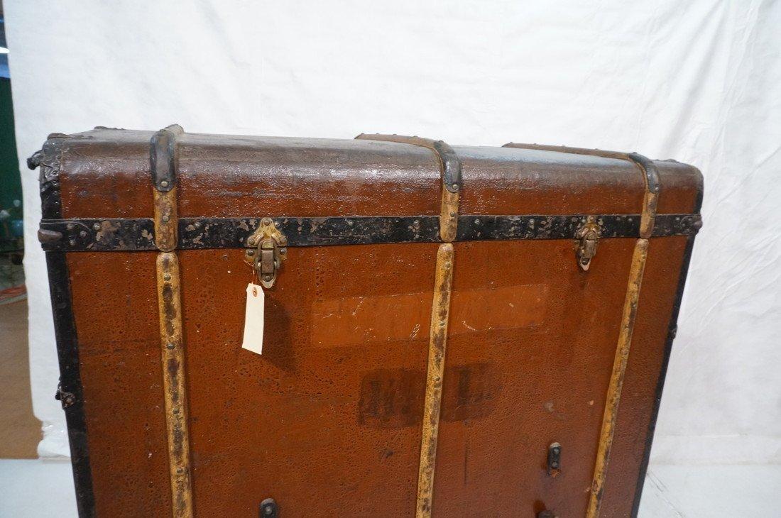 Large Antique Steamer Trunk. MORITZ MADLER, Lipzi - 4