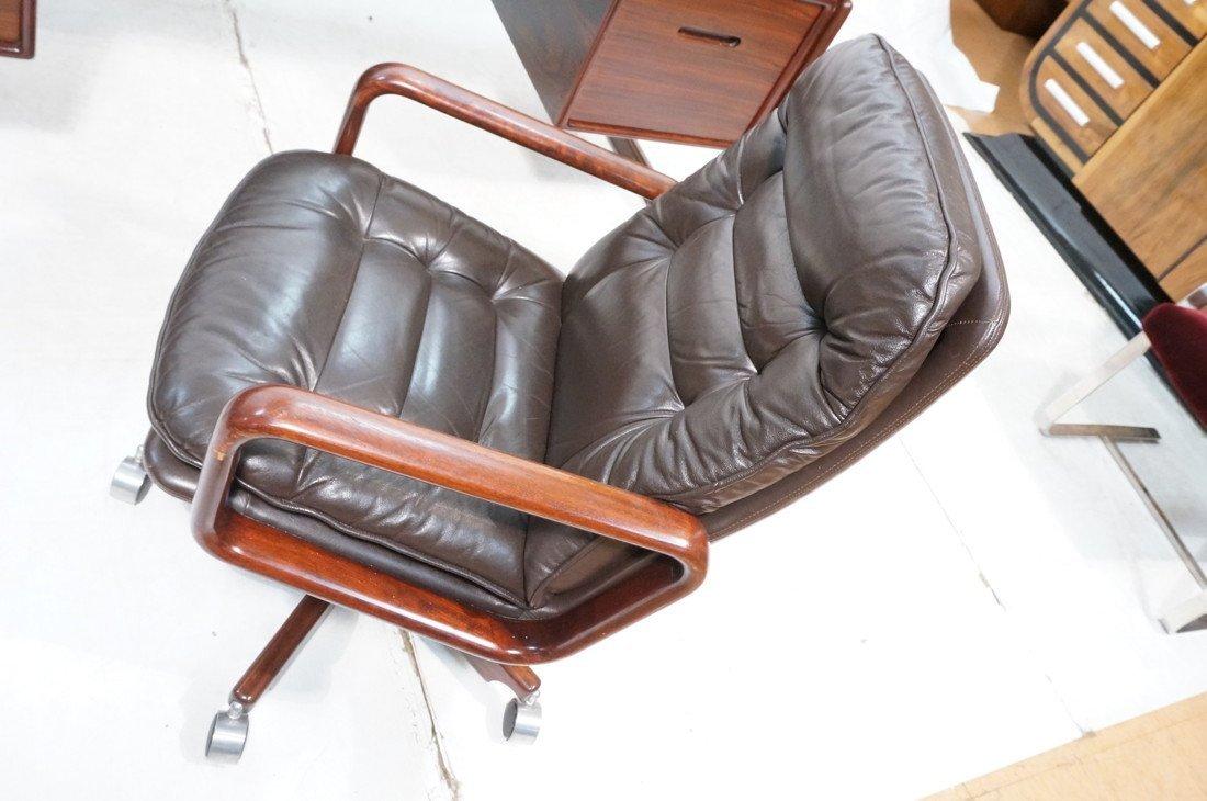 DYRLUND Danish Rosewood Desk & Office Chair. Four - 3