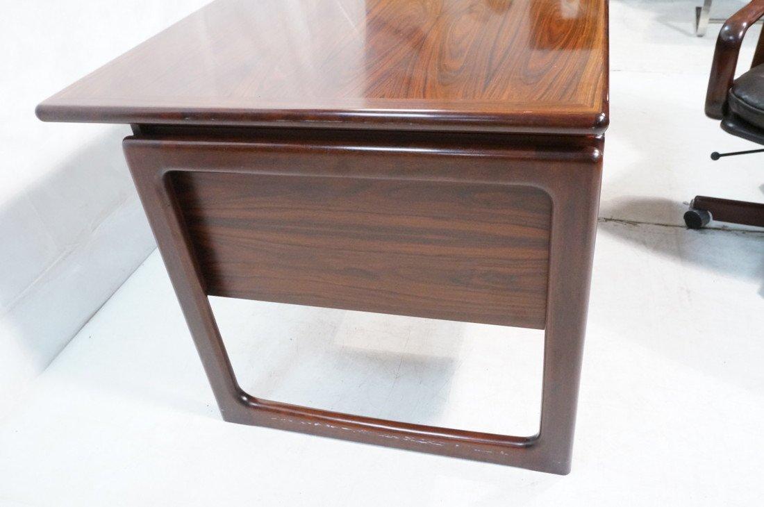 DYRLUND Danish Rosewood Desk & Office Chair. Four - 4