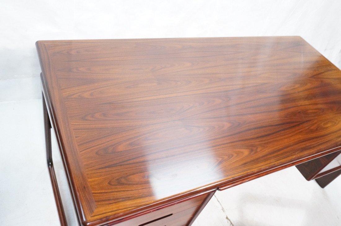 DYRLUND Danish Rosewood Desk & Office Chair. Four - 5