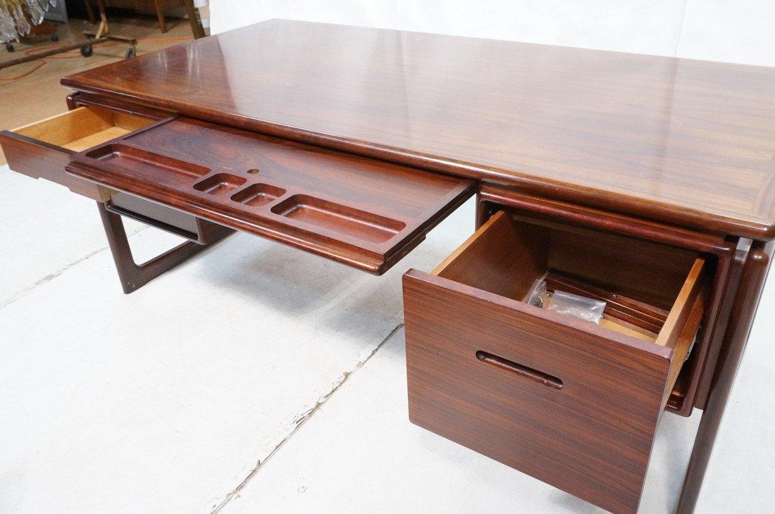 DYRLUND Danish Rosewood Desk & Office Chair. Four - 8