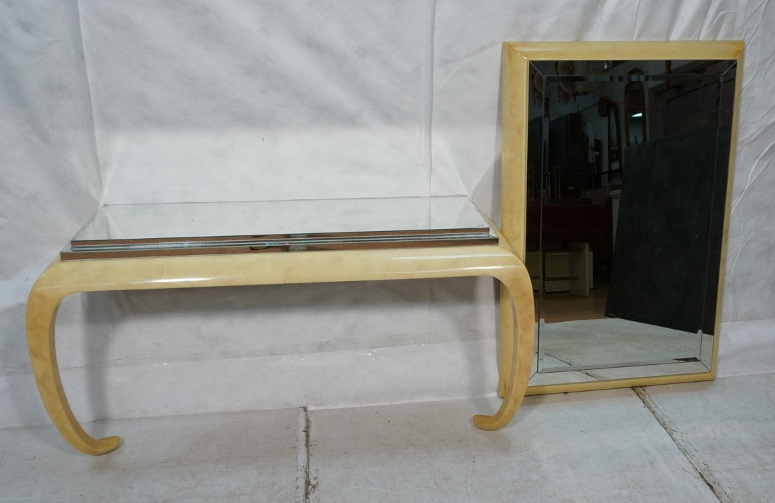 KARL SPRINGER style Console Table & Wall Mirror S