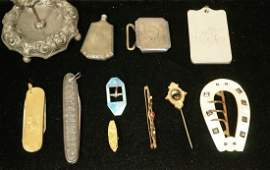 11 piece antique jewelry lot including sterling c