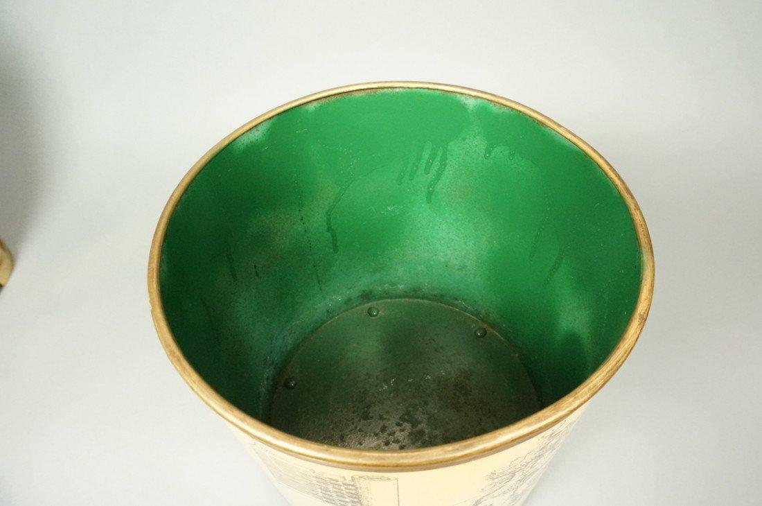 PIERO FORNASETTI Vintage Waste Basket Trash Can. - 3