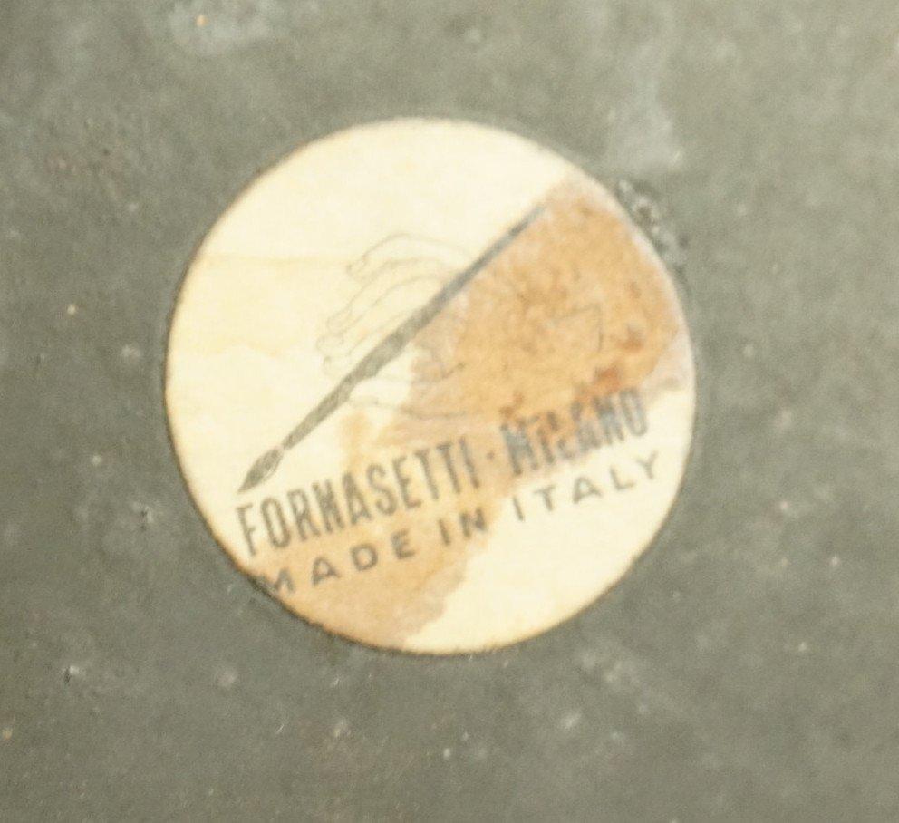 PIERO FORNASETTI Vintage Waste Basket Trash Can. - 5