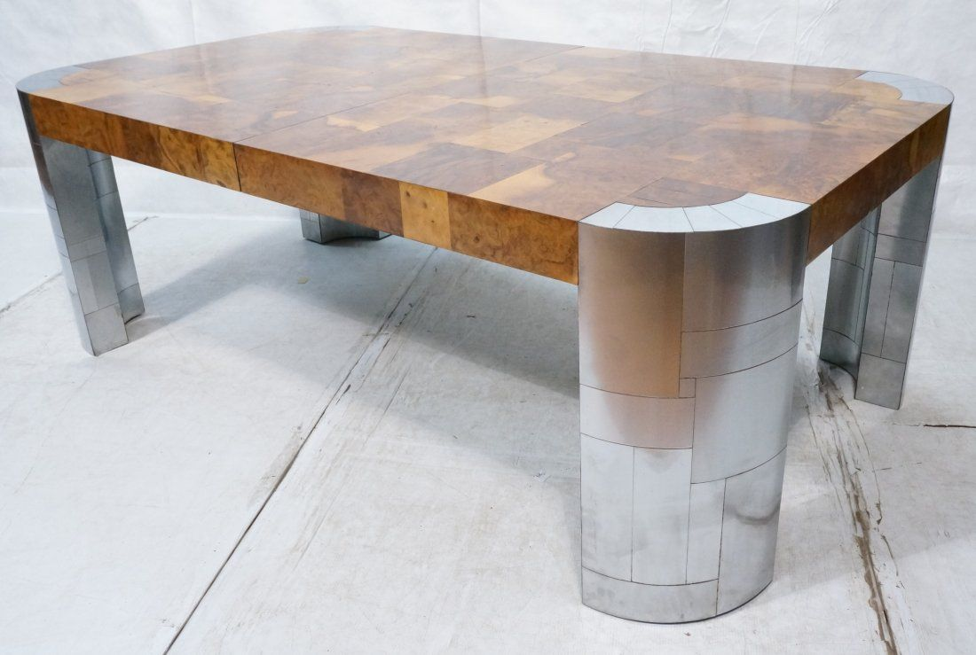 PAUL EVANS Cityscape Dining Table. Burled Wood Pa