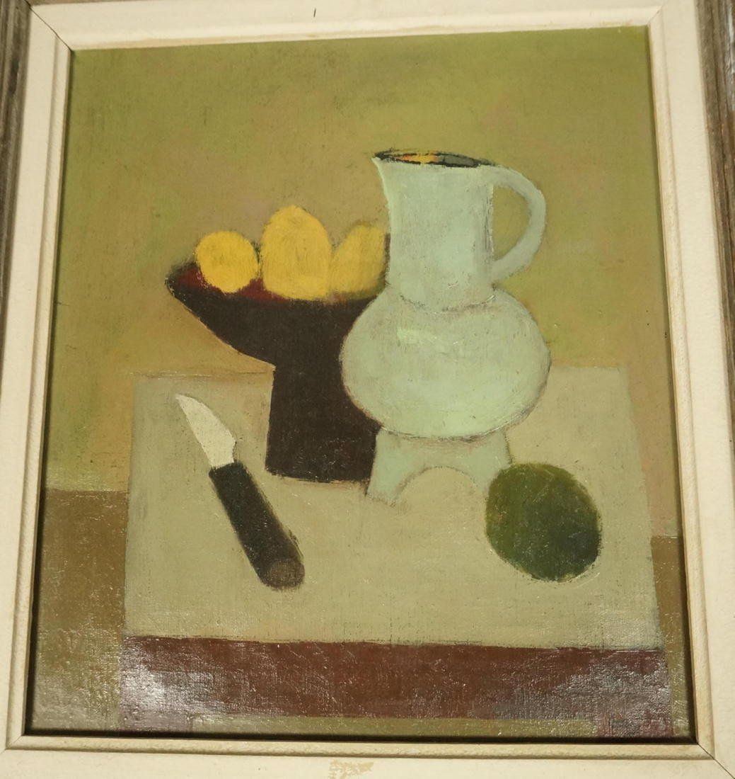 LARRY DAY Oil on Canvas Painting. Still Life: Pit