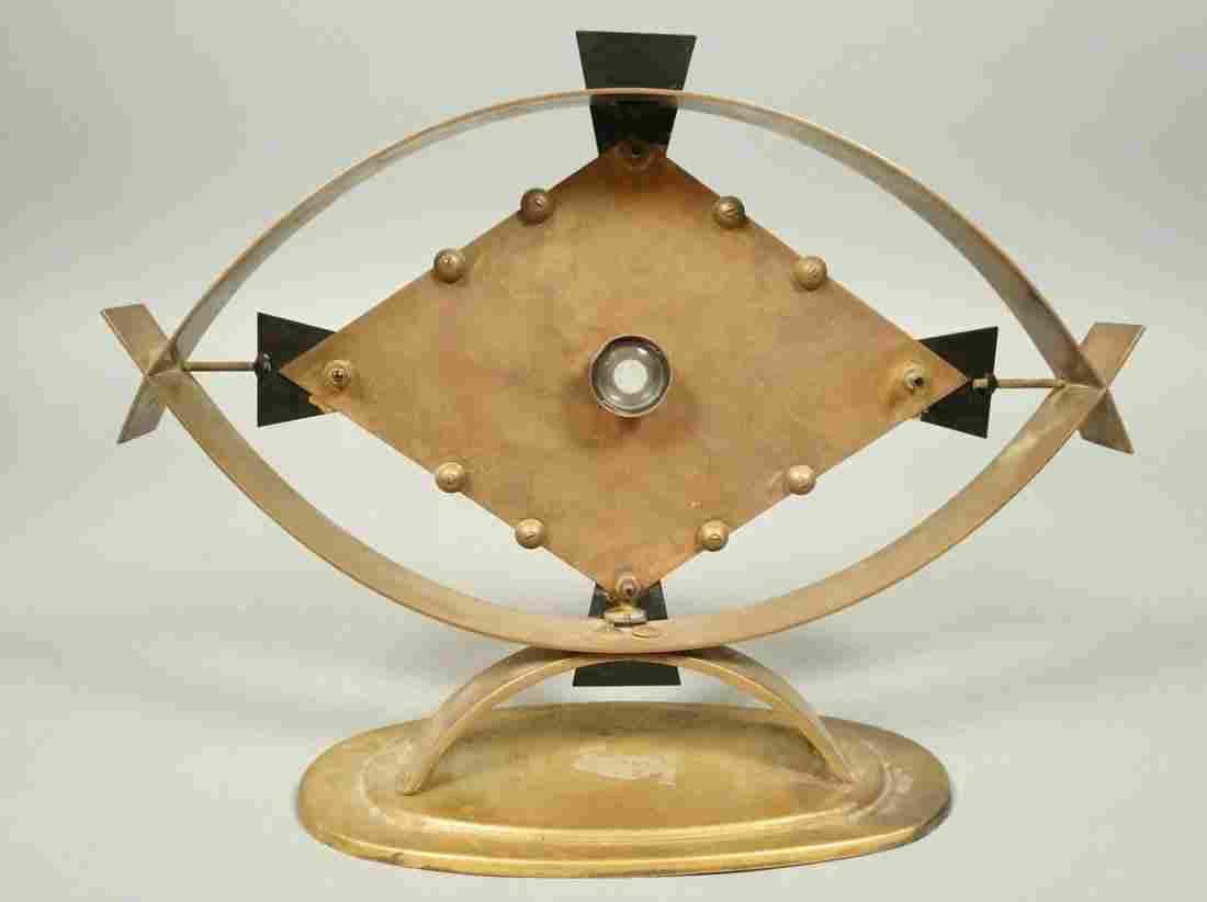 Table Sculpture signed MANUAL FELGUEREZ. Brass Mi