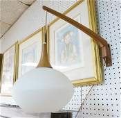 Danish Modern Teak Wall Mount Lamp. Pendant lamp