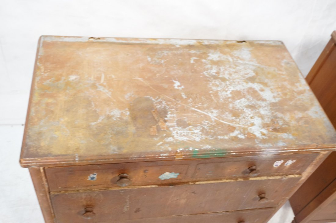 2pc Industrial Metal Dresser Chest Drawers. Metal - 3