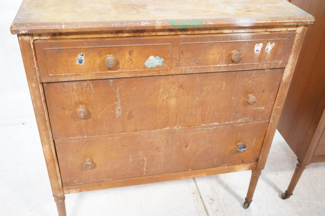 2pc Industrial Metal Dresser Chest Drawers. Metal - 4