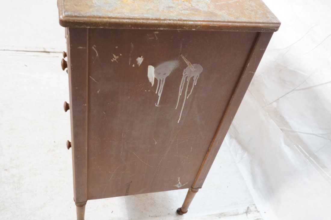 2pc Industrial Metal Dresser Chest Drawers. Metal - 7