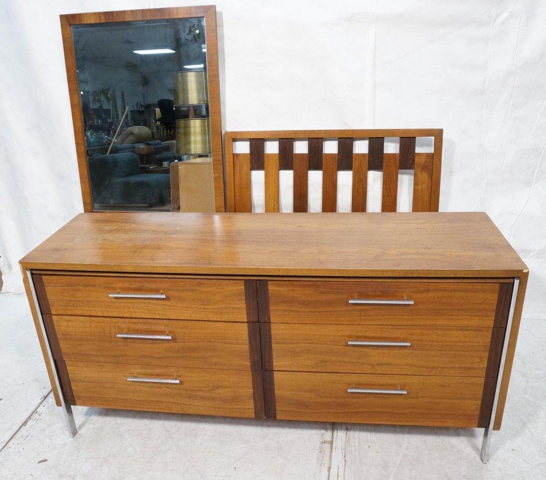 American Modern LANE Bedroom Set. Low Chest. Sing