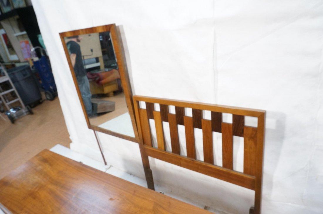 American Modern LANE Bedroom Set. Low Chest. Sing - 6