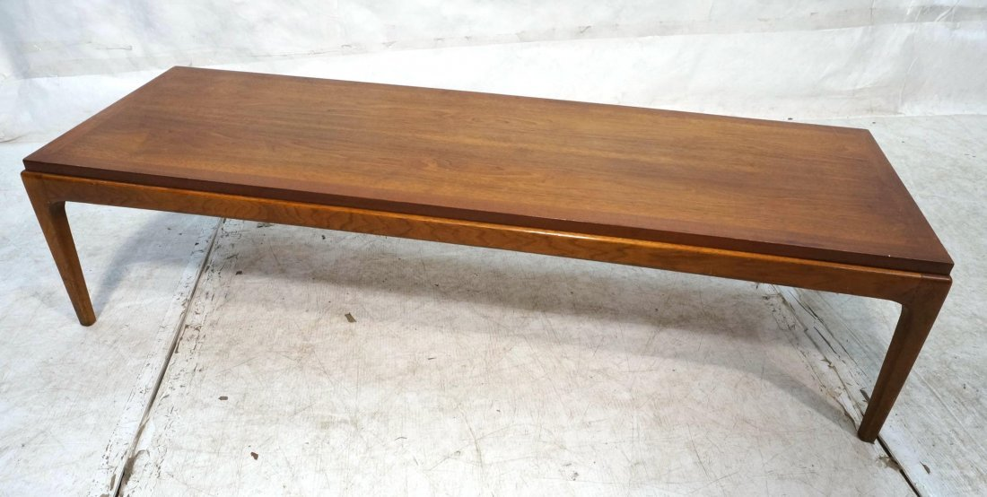 LANE Walnut Coffee Table. Style 997 01. Banded To
