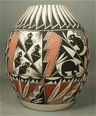 Large ACOMA LEE American Indian Pottery Vase Vess