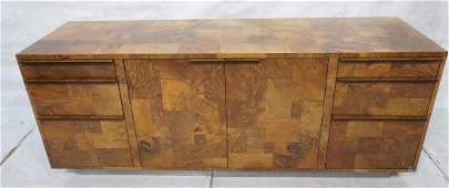 PAUL EVANS Burl Wood Patchwork Credenza Sideboard