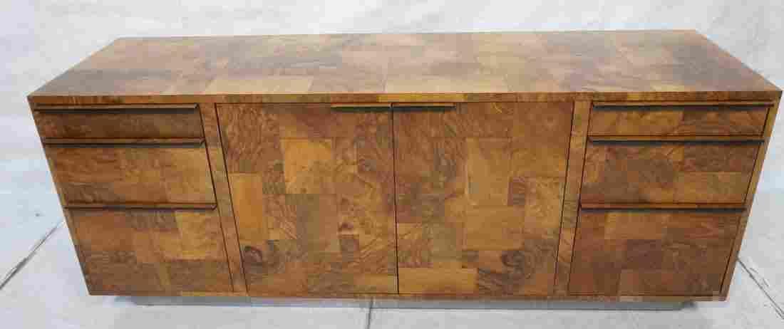 PAUL EVANS Burl Wood Patchwork Credenza Sideboard