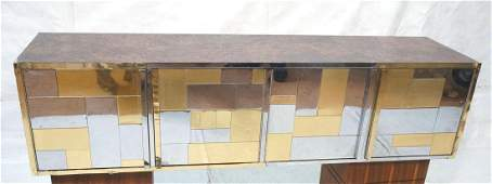 PAUL EVANS Cityscape Hanging Wall Cabinet. Mixed