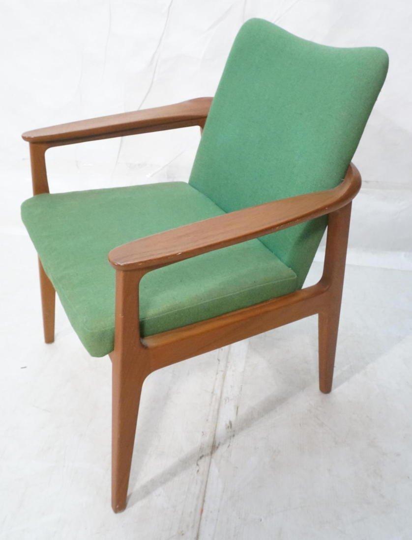 Sigvard Bernadotte Danish Teak Arm Chair.  Metal