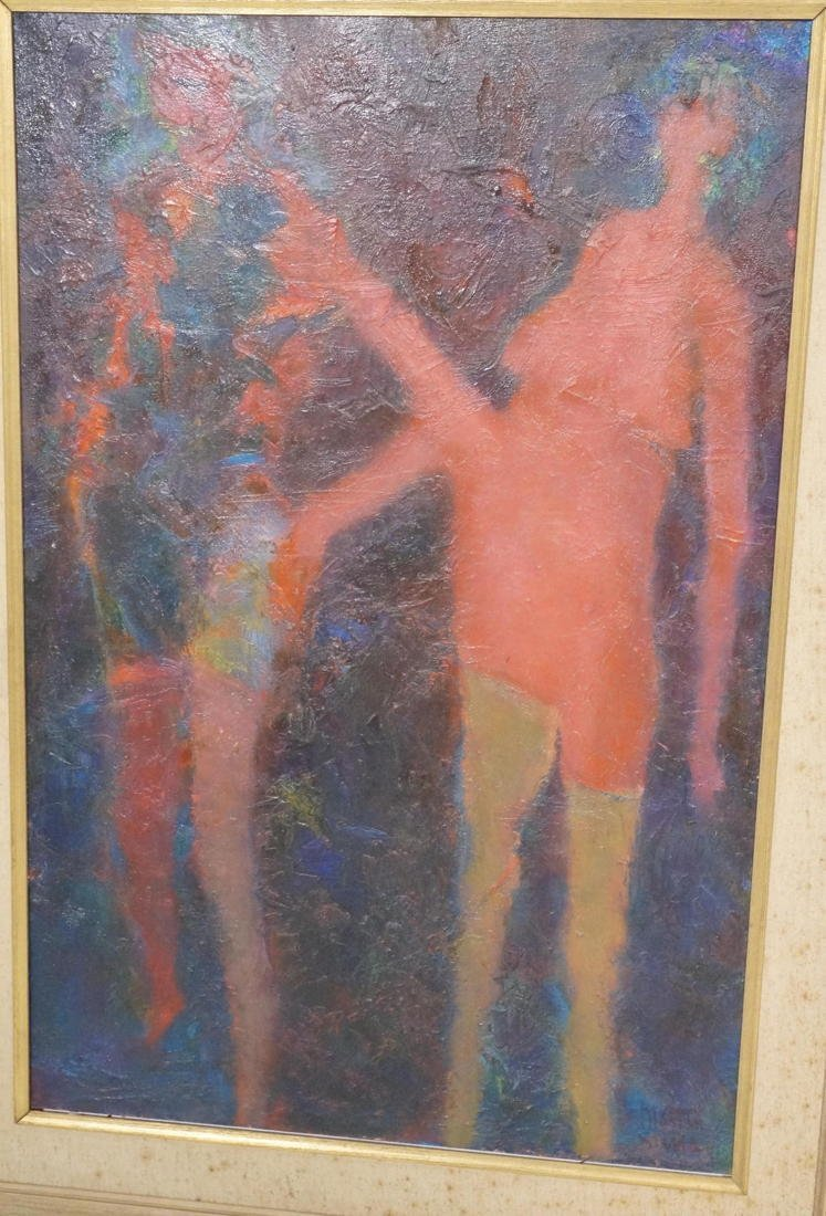 MARTIN SUMERS Oil Painting on Canvas. Two Figures