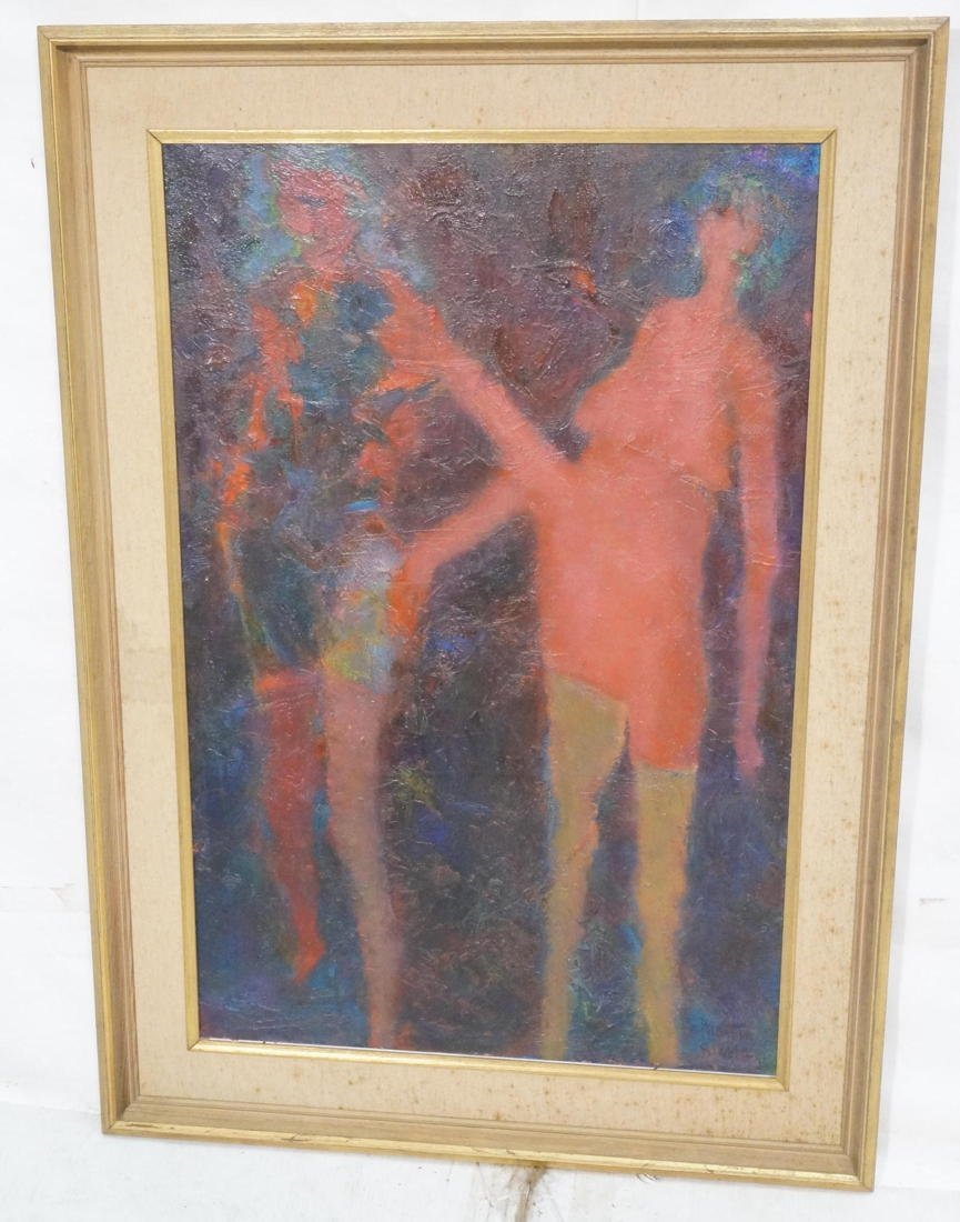 MARTIN SUMERS Oil Painting on Canvas. Two Figures - 2