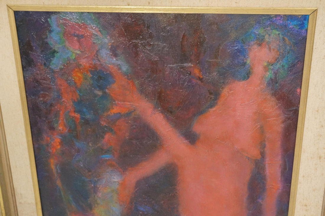 MARTIN SUMERS Oil Painting on Canvas. Two Figures - 3