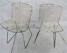 Pr Harry Bertoia Early Metal Grid Side Chairs. Ea