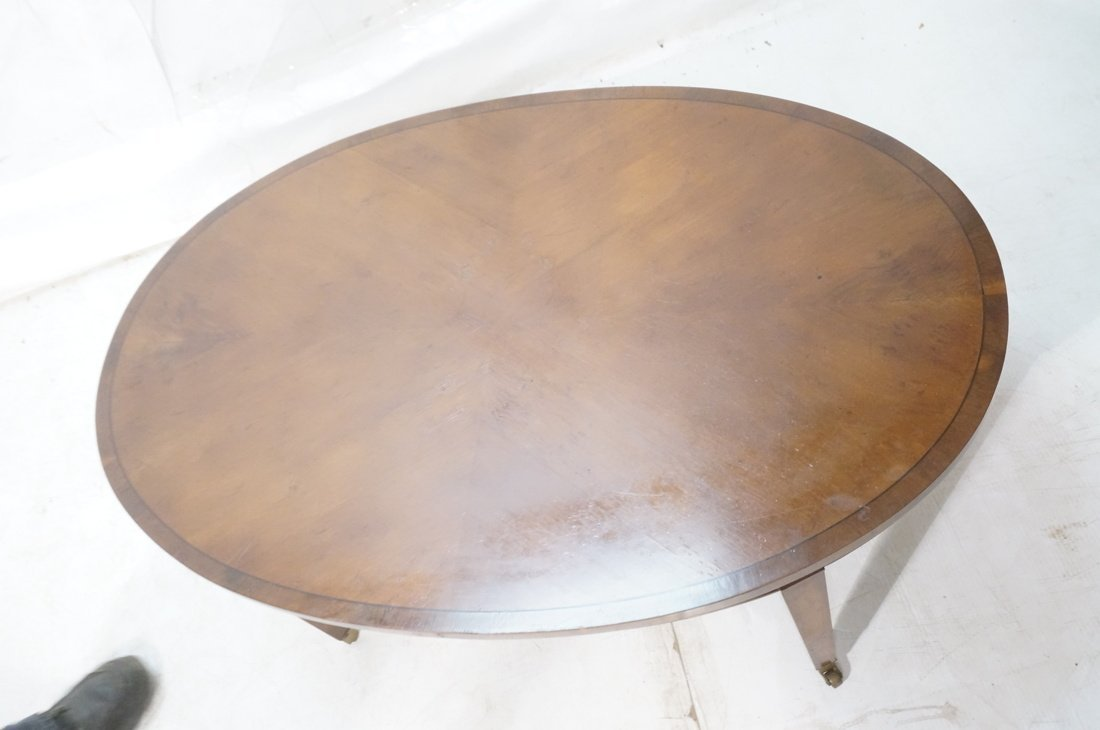Oval Mahogany Coffee Table. OLD COLONY Furniture. - 2