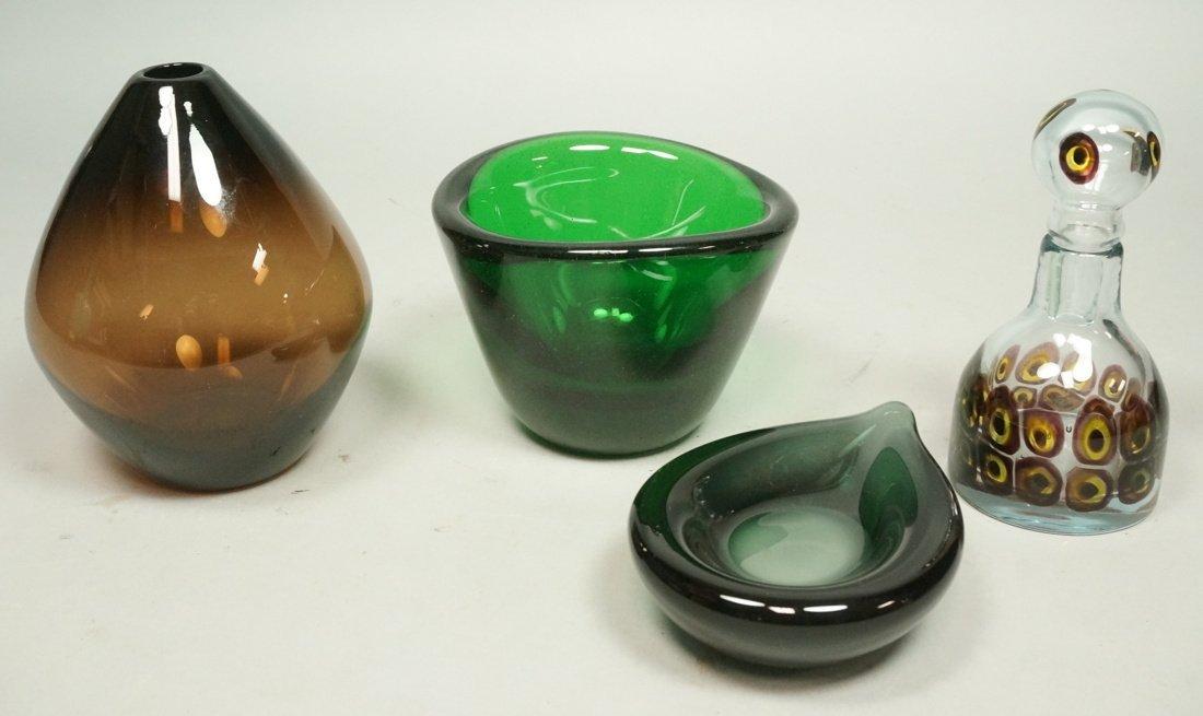 Emerald Art Glass art glass lot.1. willy johansson emerald gree
