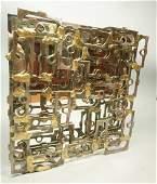 JOSEPH SELTZER 75 Brutalist Metal Sculpture Wall
