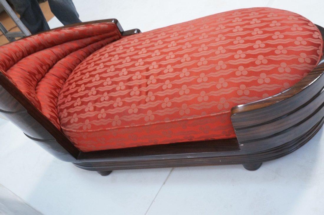 Macasser Ebony Art Deco Decorator Chaise Lounge. - 3