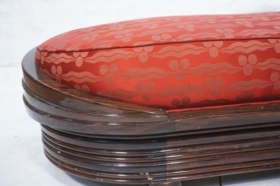 Macasser Ebony Art Deco Decorator Chaise Lounge. - 5