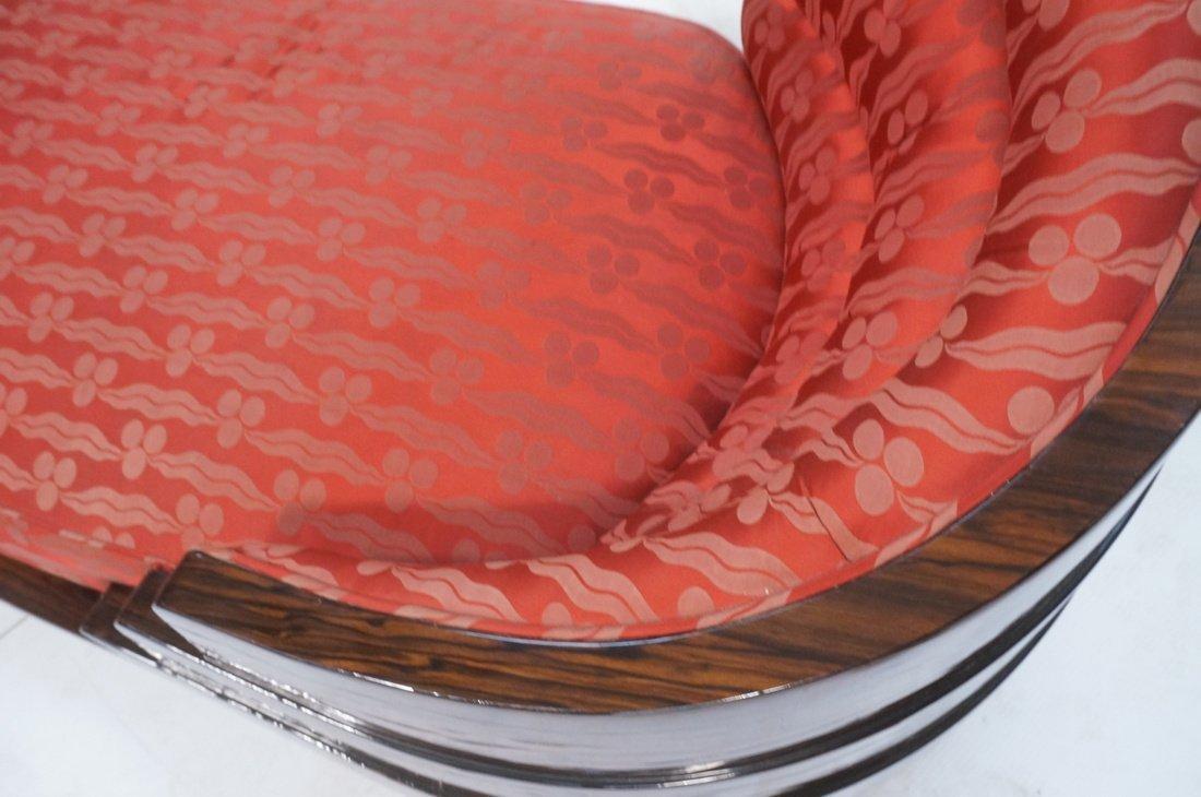 Macasser Ebony Art Deco Decorator Chaise Lounge. - 9