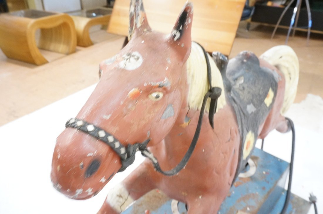 Vintage 10 cent electric riding horse. Horse is m - 7