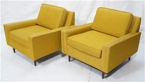 Pair of modern Selig of Monroe yellow upholstered