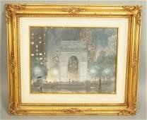 GEORGE RALP  Oil painting on board  Street scen