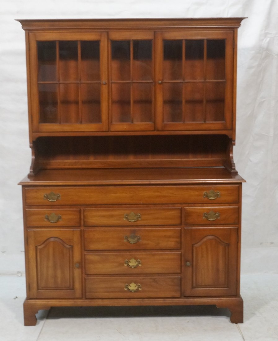 Henkel Harris Cherry Hutch Cabinet.  Glass door u