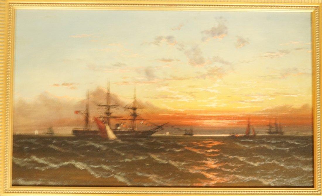 JAMES HAMILTON Oil Painting on Canvas 1874.  Sail
