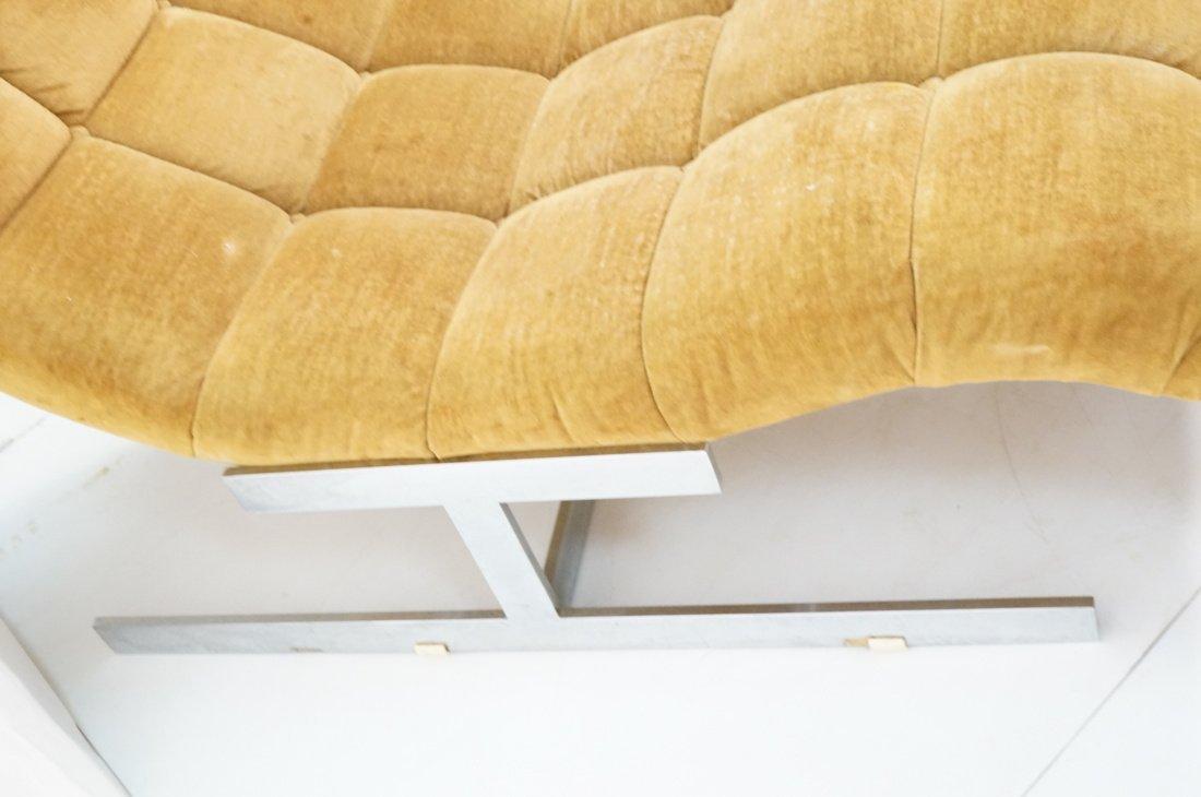MILO BAUGHMAN style  Tufted Velvet Chaise Lounge. - 3
