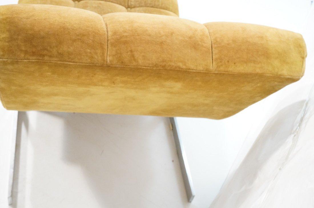 MILO BAUGHMAN style  Tufted Velvet Chaise Lounge. - 5