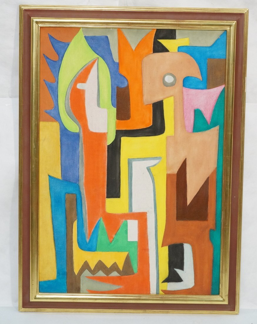 Le Totem de Theodore DIOUF Oil Painting. Modernis