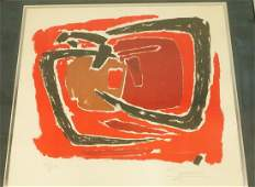 Antonio Guanse Abstract Modernist Lithograph