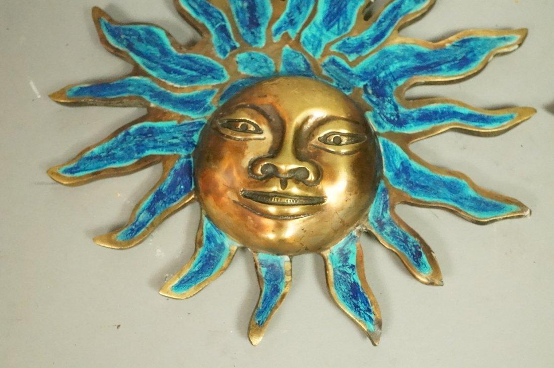 PR PEPE MENDOZA Bronze & Enamel Sun Wall Hangings - 2