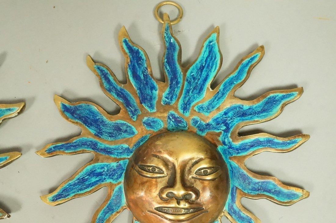 PR PEPE MENDOZA Bronze & Enamel Sun Wall Hangings - 4