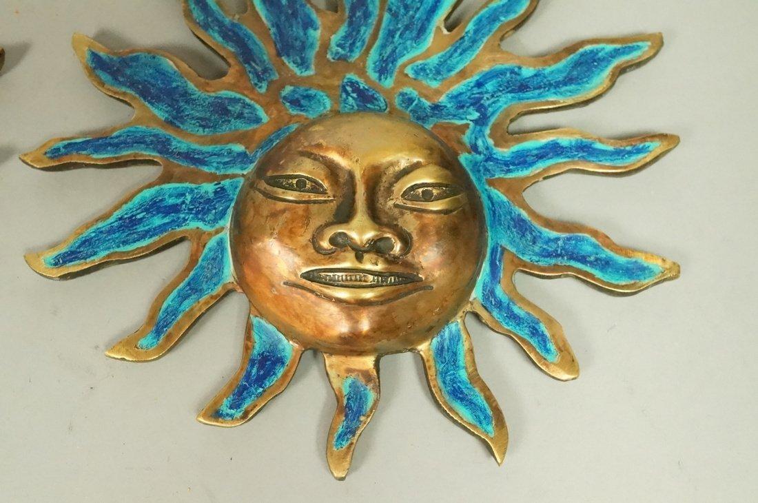PR PEPE MENDOZA Bronze & Enamel Sun Wall Hangings - 5