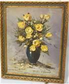 Claude Langedin Montreal '69 Oil Floral Still Lif