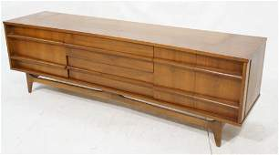 American Modern Low Credenza Sideboard Bowed Fro